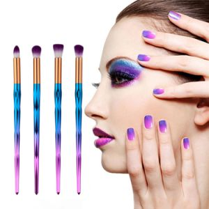 Popular New Arrival of 4PCS Colorful Makeup Brush Set pictures & photos