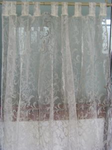 Flocked Organza Curtain