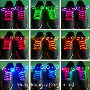 LED Light up Glow Fiber Shoelaces pictures & photos