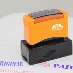 Dual Foam Pre Inked Stamp 20*50mm pictures & photos