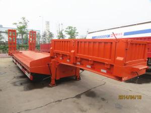 Low Platform Heavy Machine Transport Semi Trailer pictures & photos