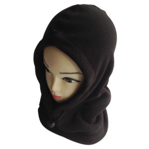 Fleece Black One Hole Sport Polyester Women and Men Boy and Girl Balaclava Mask