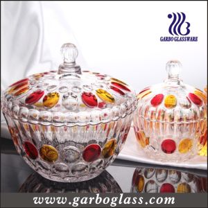Big Glass Sugar Pot/ Jar (GB1811YD/P) pictures & photos