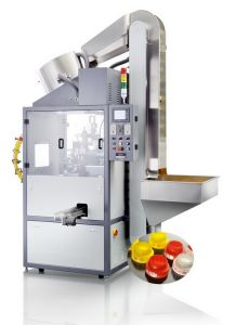Full Automatic Wine Bottle/ Container Cap Screen Printing Machinery (SZD-103A)