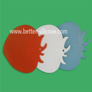 Stawberry Shaped Slicon Rubber Beverage Coaster pictures & photos