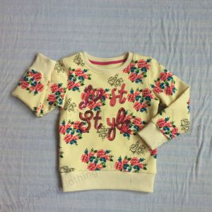 Girl Fleece Kids Flower Print 2 PCS Suits Clothes in Childen Sport Clothing Sq-6213 pictures & photos