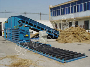 Horizontal Semi-Automatic Waste Paper Baler Straw Machine pictures & photos