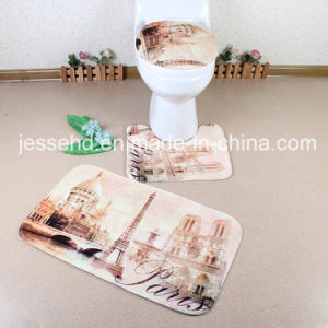 2017 Hot Selling Memory Foam 3D Printed 3piece Bathroom Set Floor Mat pictures & photos