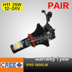 1800lm High Beam H11 25W CREE LED Headlight