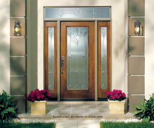 Classic Dark Brown Solid Wood Main Entrance Exterior Doors pictures & photos