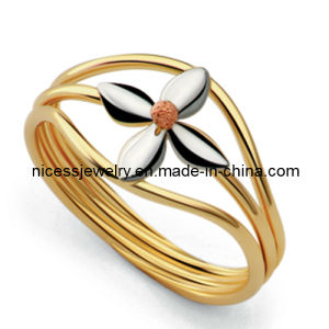 Women′s Stainless Steel Pearl Ring (AR35)