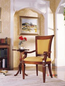 Solid Wood Armrest Wooden Dining Desk Chair pictures & photos