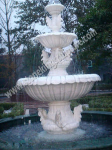 Natural White Marble Outdoor Fountain of Fish (sk-3376) pictures & photos
