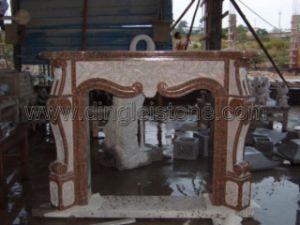Granite Carved Fireplace