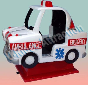 coin operation Kiddie Ride Fiber glass Ambulance Mini Car pictures & photos