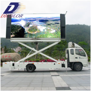 Truck LED Display With 6949CD/M2 Brightness for Rental Advertising (2R1G1B)