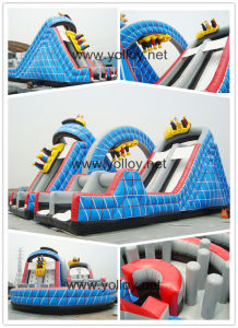 Wild One Roller Coaster Inflatable Slide with Obstacles pictures & photos