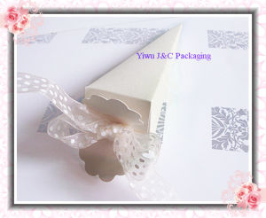Metallic Ivory Cone Boxes (JCO-079A)