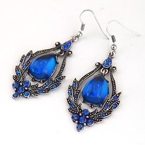 Wholesale Alloy Resin Stones Hematite Plating Fashion Costume Jewelry Earrings pictures & photos