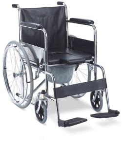 Steel Foldable Commode Wheelchair (SC-CW07(S)) pictures & photos
