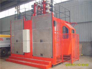 CE Approved Building Lifting Hoist with Double Cage pictures & photos