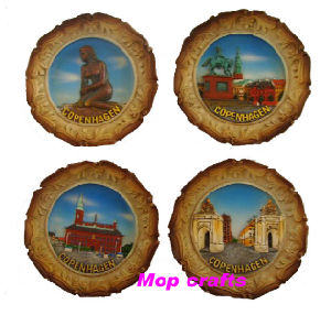 Polyresin Plate Magnet, Plate Souvenirs Magnet Crafts pictures & photos