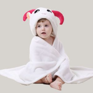 Happy Cherry Baby Cute Flannel Furry Blanket Hoodie Bath Robe pictures & photos