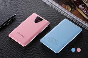 10000mAh Leather Cover Portable Phone Power Bank Aluminium Fram LCD for Christmas Gift