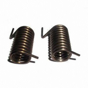 Torsion Springs With 0.01 to 1.2mm Wire Diameter and Pitch Changeable