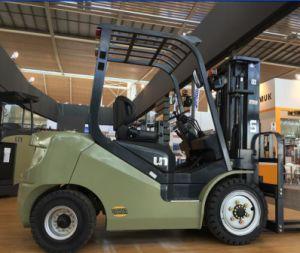 2.5t N Series Un Gasoline/LPG Forklift with Triplex 4.5m Mast pictures & photos
