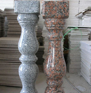 Polished Red/Grey Granite Railing, Balustrade, Fence, Baluster