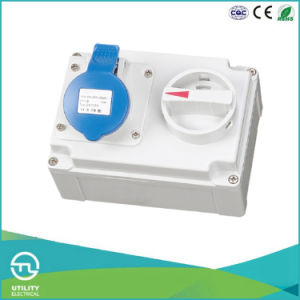 IP44 Female Socket with Switch for Industrial Plugs & Sockets pictures & photos