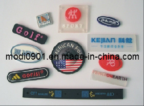 Rubber Label- Garment Accessory Custom PVC Embossed Rubber Patches, Rubber Label for Clothing pictures & photos