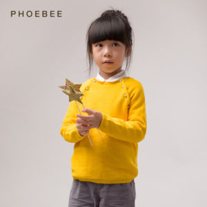 Phoebee 100% Cotton Knitted/Knitting Sweater Girls Clothes pictures & photos