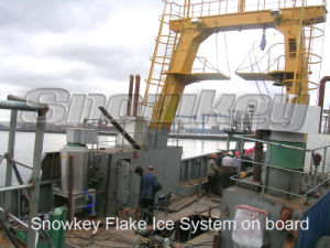 Sea Water Flake Ice Maker On Board pictures & photos