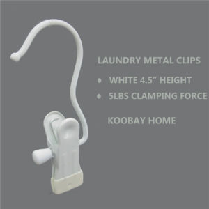 Wholesale Metal Laundry Plastic Tips Clip Boots Hanger pictures & photos