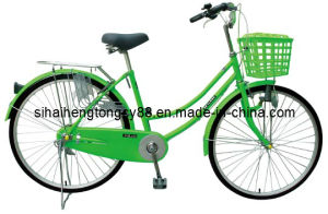 Green City Bicycle with Front Plastic Basket (SH-CB126) pictures & photos