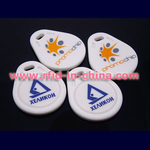 Smart RFID Key Fobs with Logo Printed pictures & photos