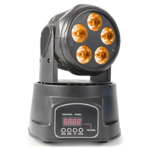 5* 18W RGBWA+UV 6in1 Mini LED Beam Moving Head Light pictures & photos