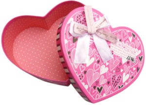 Rigid Heart Shaped Paper Gift Box (YY--B0077) pictures & photos
