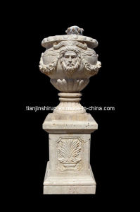 Travertine Stone Flower Pot (VS335) pictures & photos