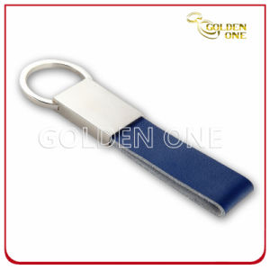 High Quality Embossed Logo PU Leather Keychain pictures & photos