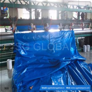 100GSM Waterproof Blue PE Coated Tarpaulin in Roll pictures & photos