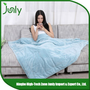 Warm Lightweight Highquality Blue Microfiber Blanket Inexpensive Blankets pictures & photos