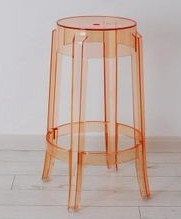 Clear Charles Stool Chair (RG003)