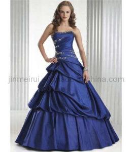 Elegant Taffeta Evening Dress (JM-094)
