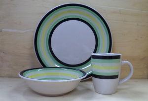 12PCS Hand Painted Ceramic Dinnerware Set (WSY1025S)