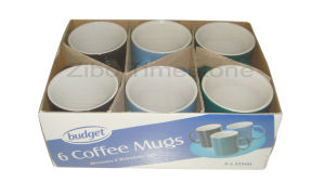 Stoneware Color Glazed Coffee Mugs-6PC Budget Set (CM612075) pictures & photos