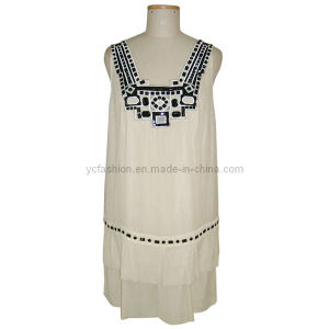 Ladies Silk Chiffon Beads Dress