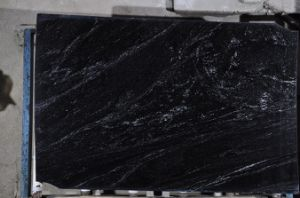 Brazil Black Nevada Natural Stone Black White Slab Granite Stone